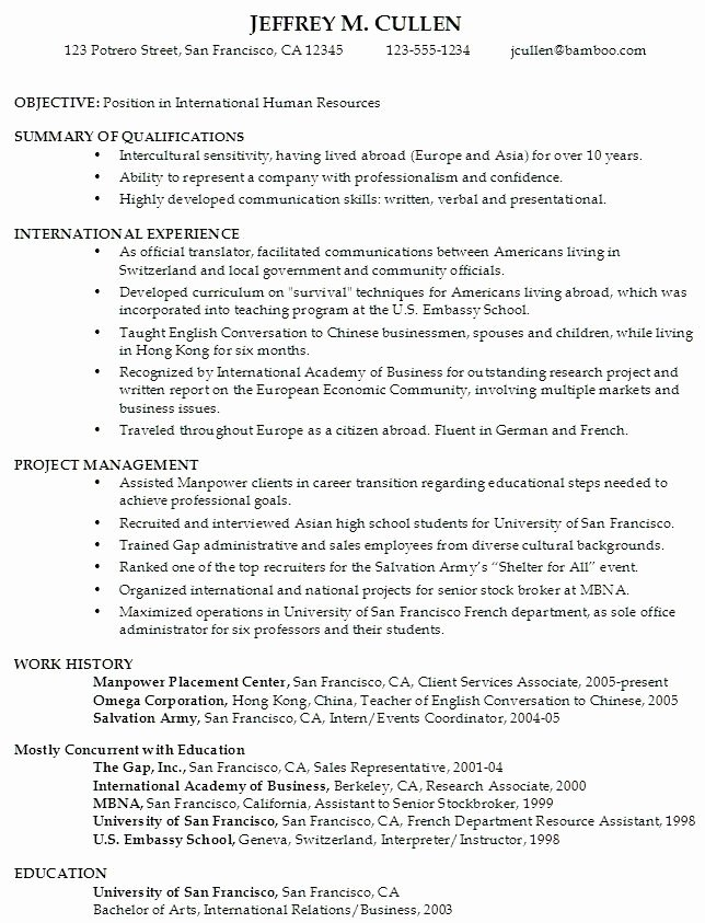 College Student Resume Objective Best Resume Collection