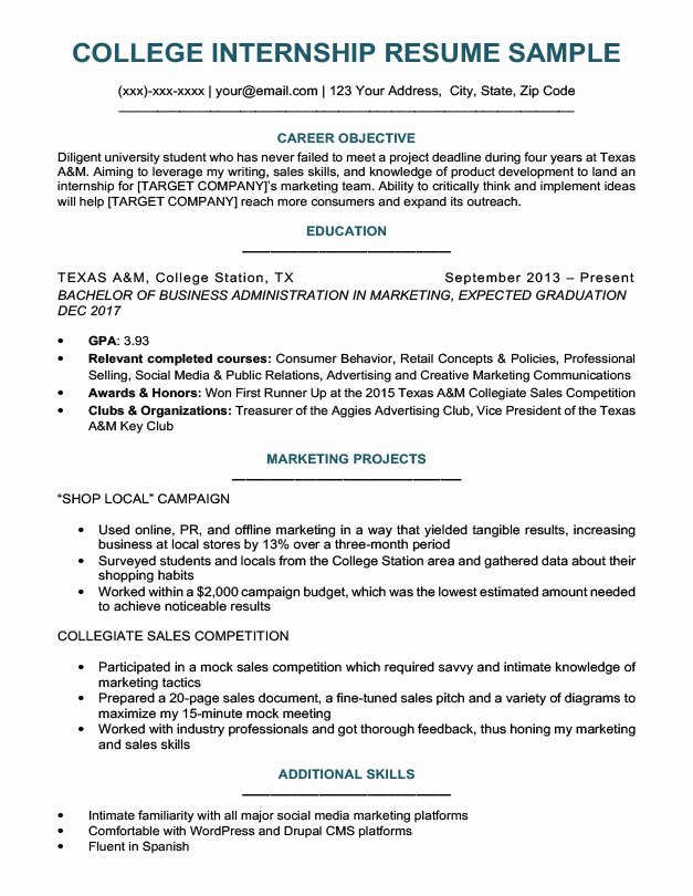 College Student Resume Sample & Writing Tips