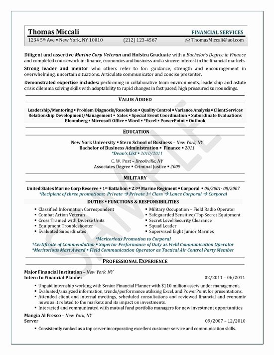 College Student Resume Template for Internship
