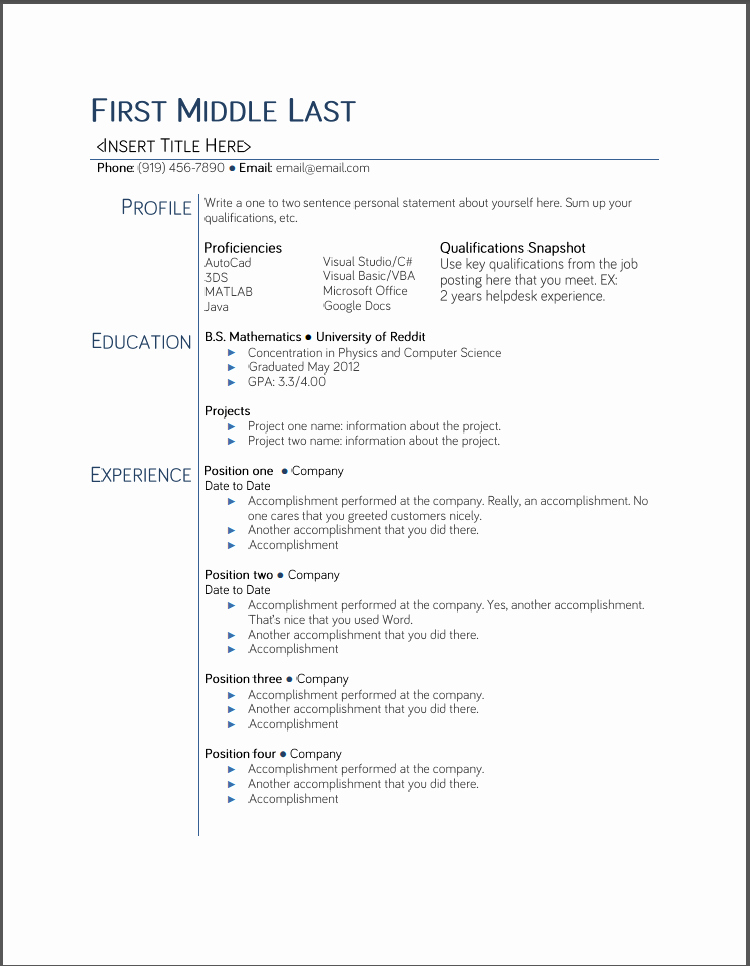 College Student Resume Templates Microsoft Word Google