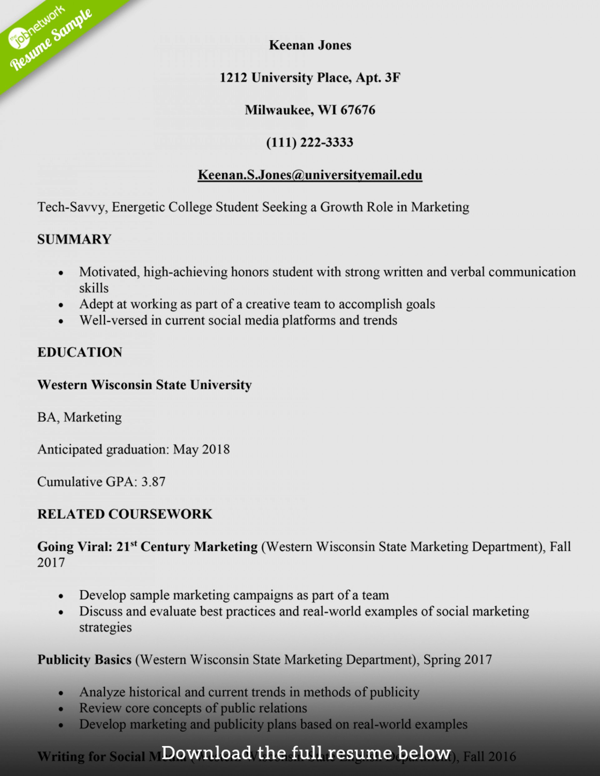 College Student Resume Tips