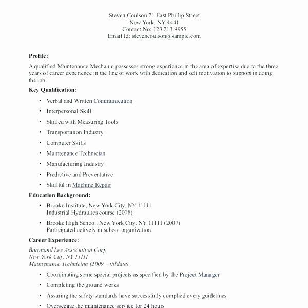 College Student Resume with No Work Experience Examples