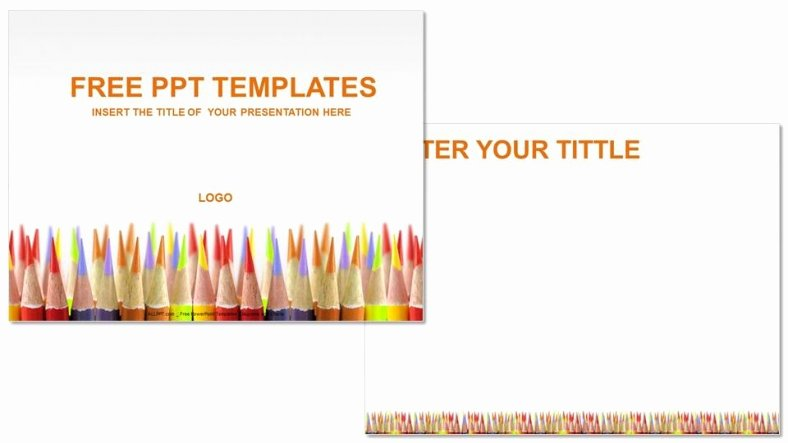 Colored Pencils Education Powerpoint Templates Download