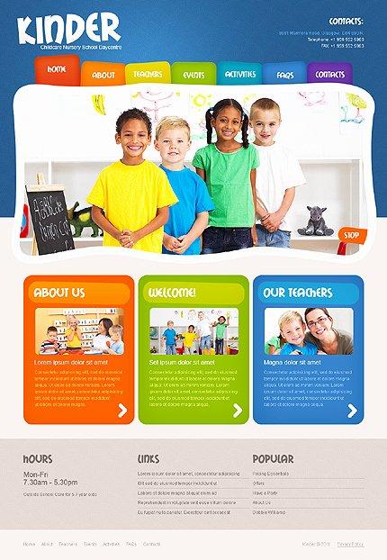 Colorful Day Care Nursery & Kindergarten Kids Website