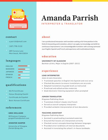 Colorful Modern Watercolor Resume Templates by Canva