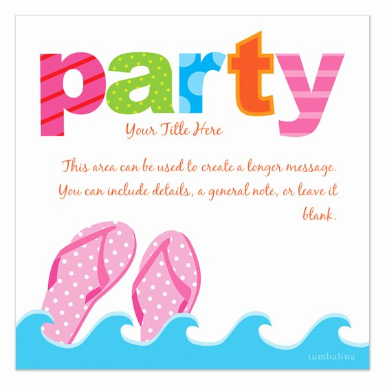 Colorful Summer Party Invitations & Cards On Pingg