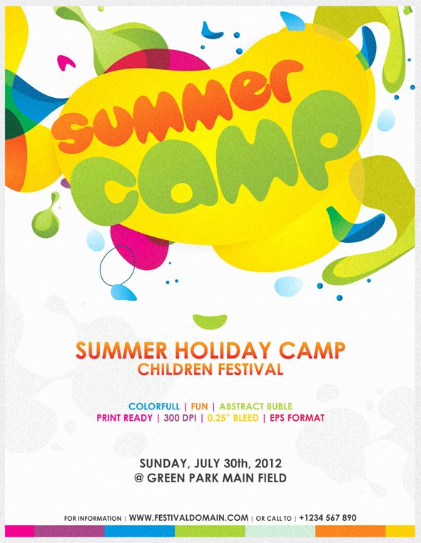 Colorfull Summer Camp Fest Flyer by Firmansuciananda On