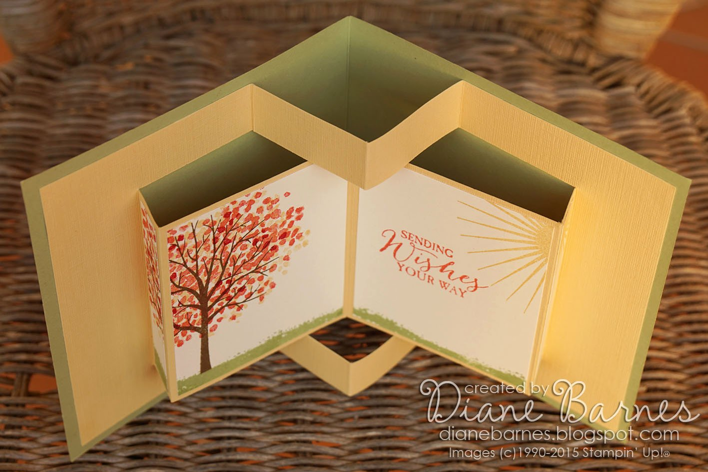 Colour Me Happy Sheltering Tree Pop Up Book Card & Template