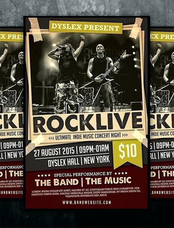 Concert Flyer Template Image Collections Template Design