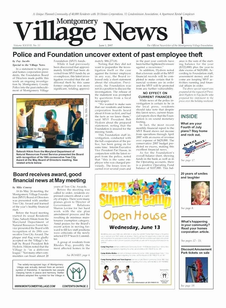 Condo Newsletter Template Newsletter Templates Elegant