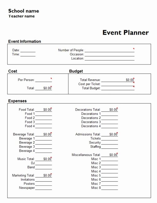 Conference Plan Template