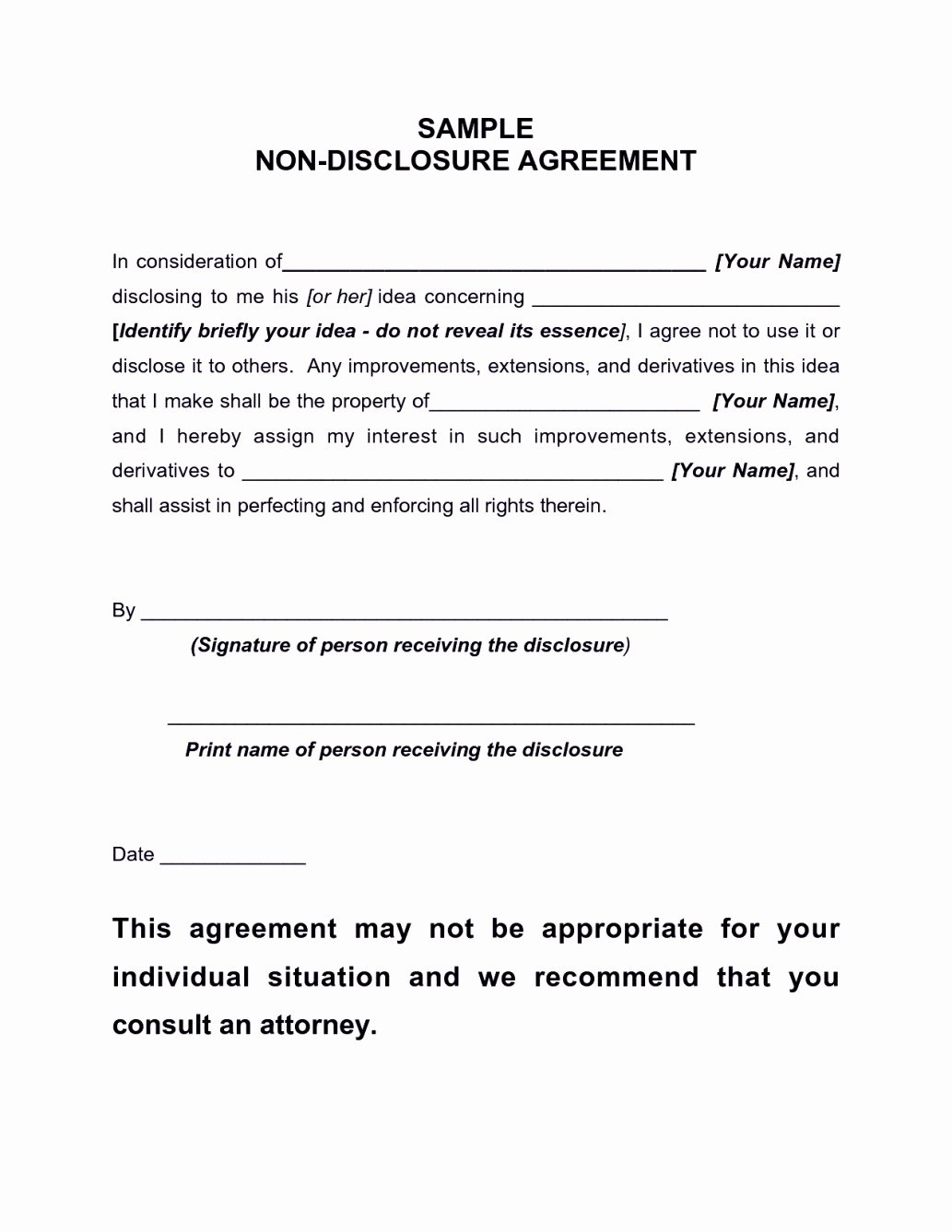Confidentiality Agreement Template Pdf Template