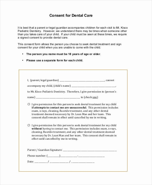 Consent form for Dental Treatment Driverlayer Search Engine