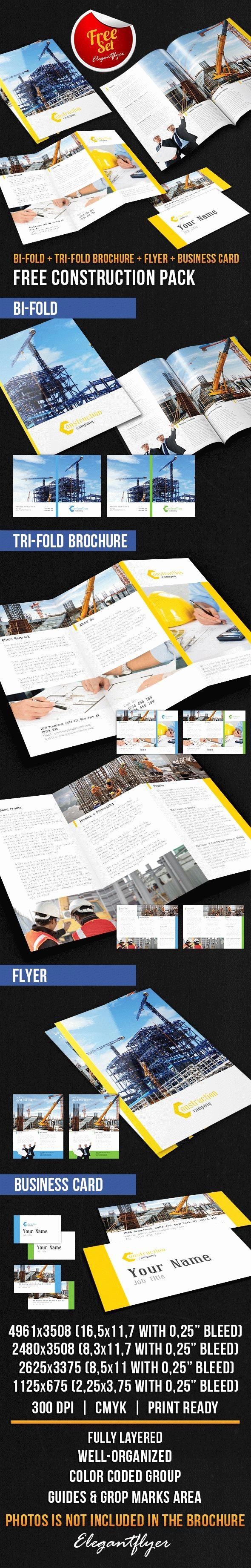 Construction Brochure Pack – Free Psd Template – by