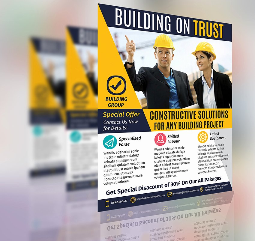 Construction Business Flyer Template Vol 2 by Aboanas Dzn