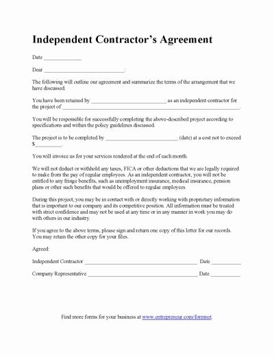 Construction Contract Template Contractor Agreement