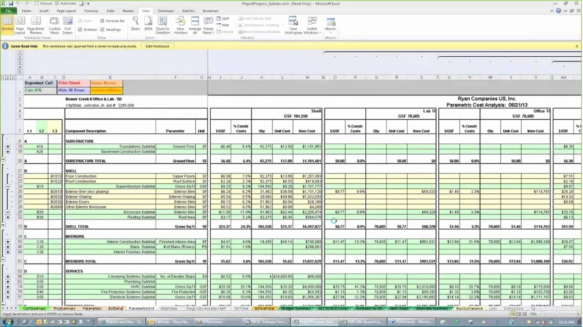 Construction Estimating Spreadsheets – Spreadsheets