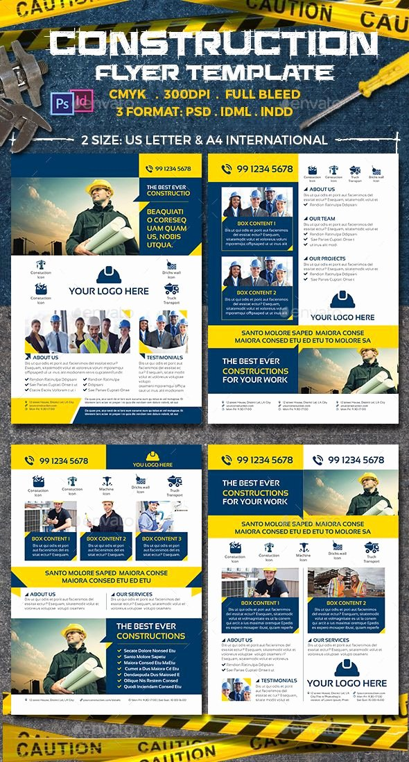 Construction Flyer Templates — Shop Psd Retar Ing