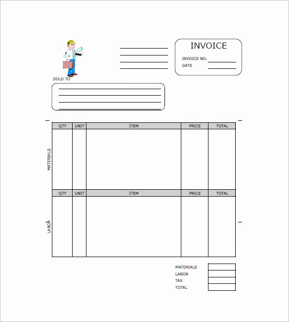 Construction Invoice Template 15 Free Word Excel Pdf