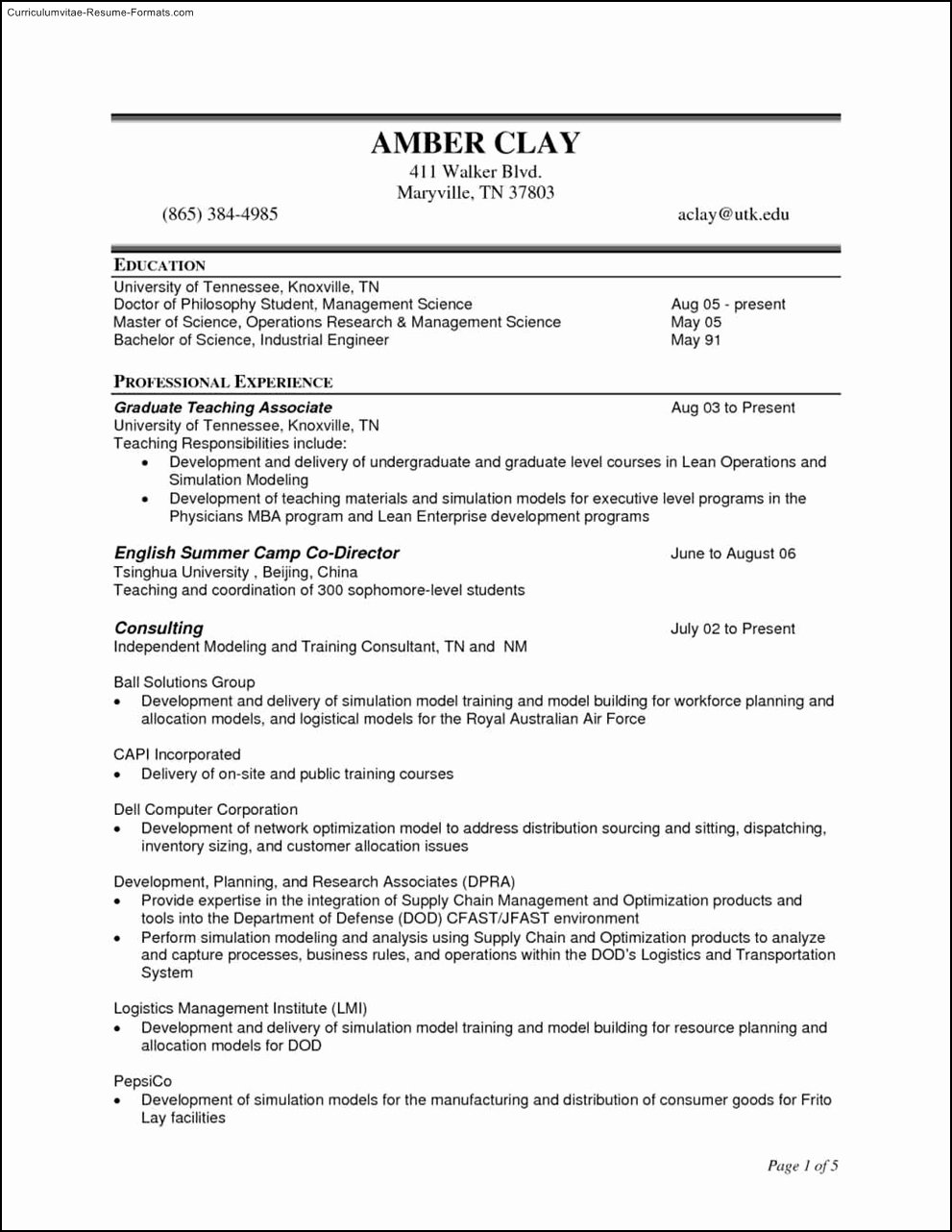 Construction Management Resume Examples Eezee Merce