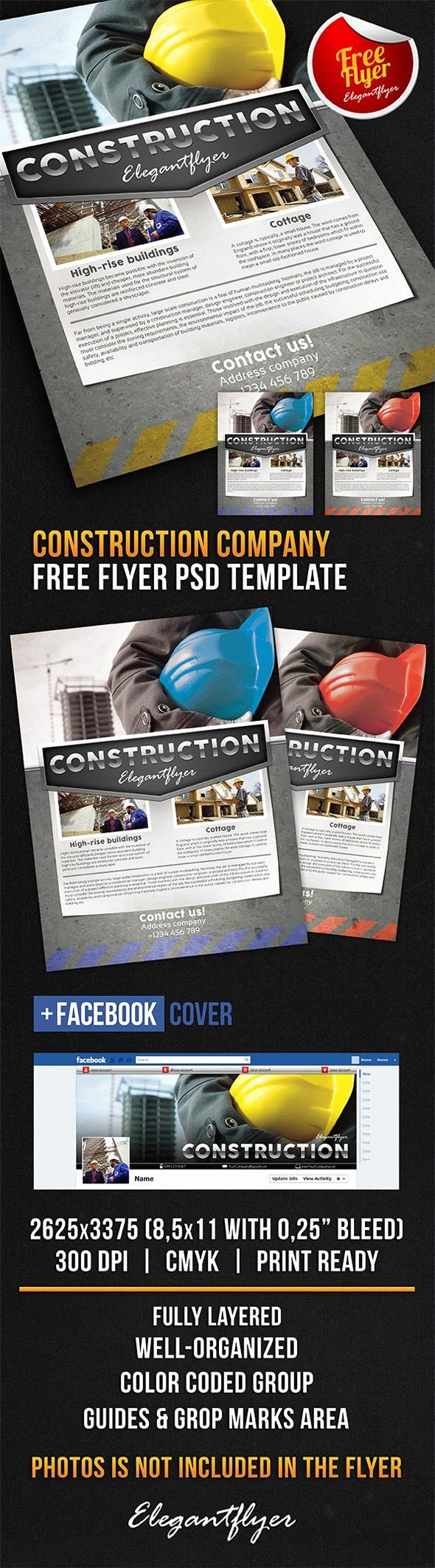 Construction Pany Free Flyer Psd Template
