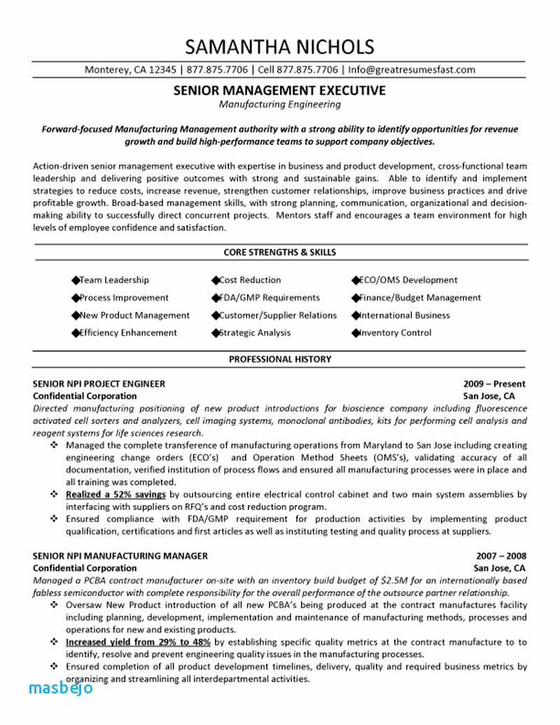 Construction Project Manager Resume Examples Project
