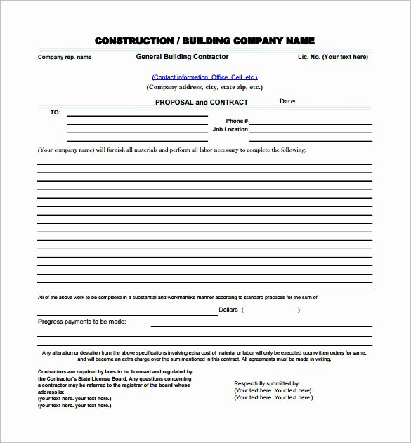 Construction Proposal Templates 19 Free Word Excel