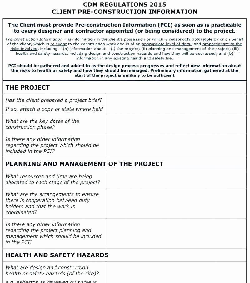 Construction Safety Manual Template New Sample Safety