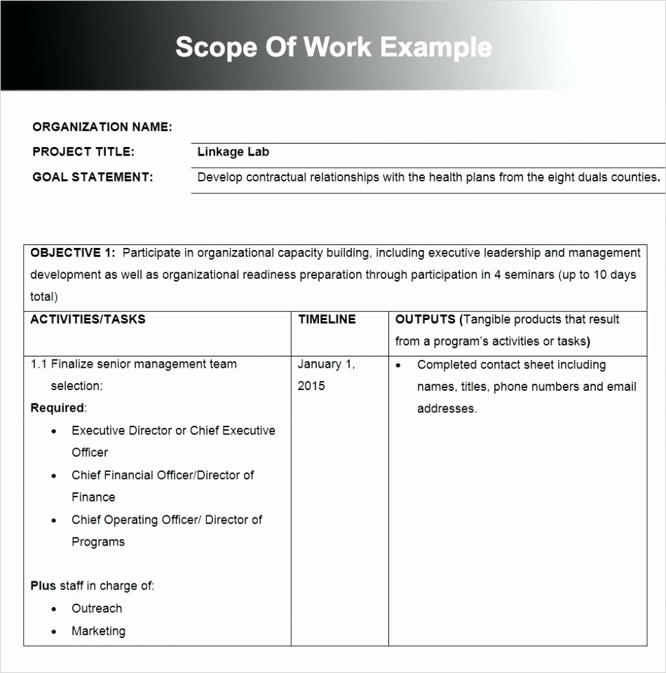 Construction Scope Of Work Template Baskanai