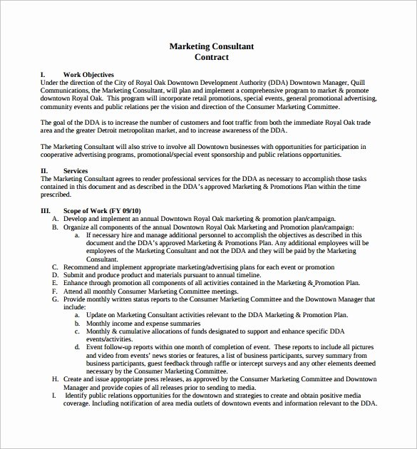Consultant Contract Template 10 Download Free Documents