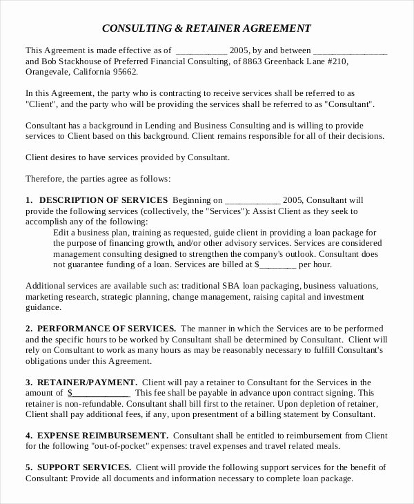 Consulting Agreement 11 Free Word Pdf Documents
