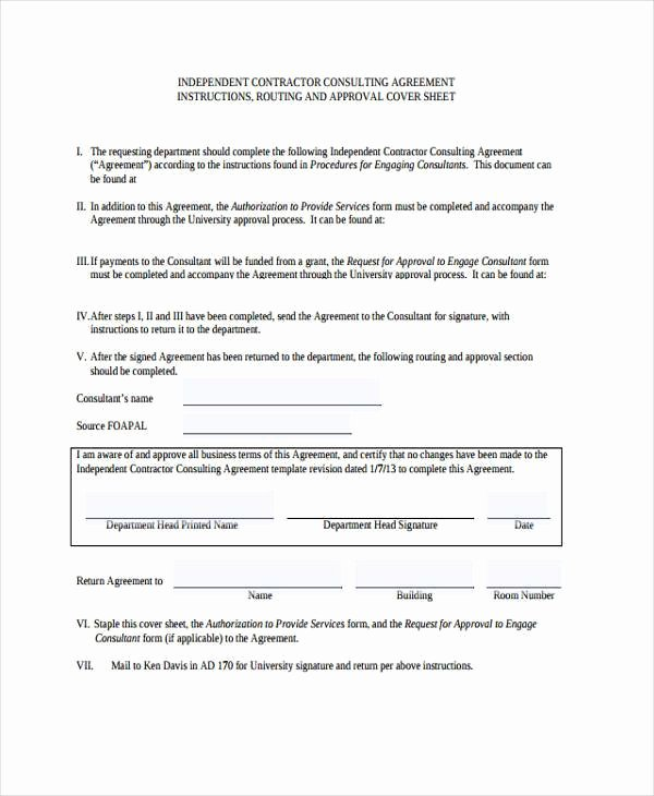 Consulting Agreement form Samples 7 Free Sample