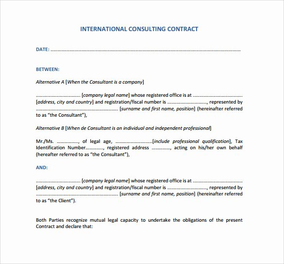 Consulting Agreement Template Free