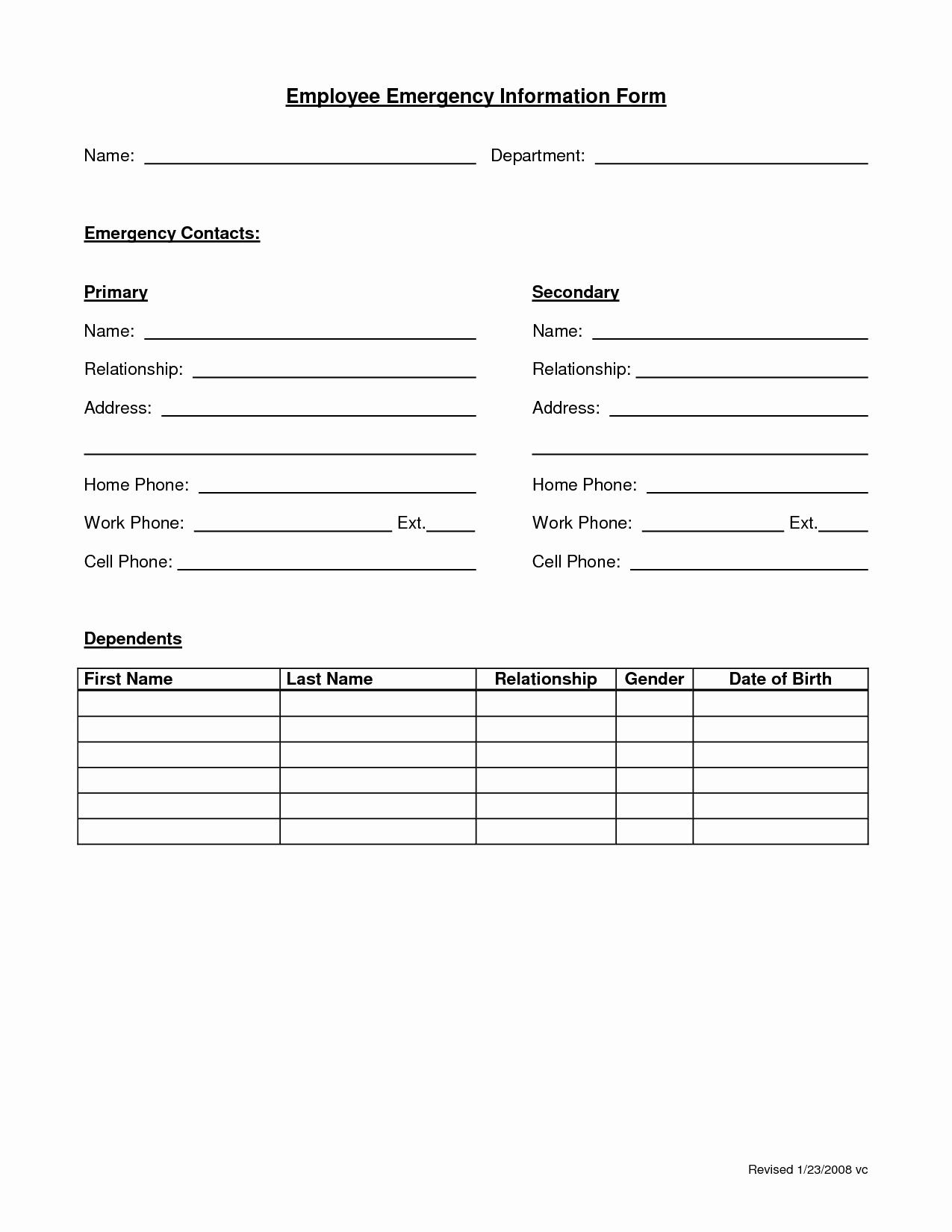 Contact Information Template Word Portablegasgrillweber