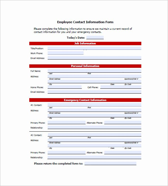 Contact List Template 10 Free Word Excel Pdf format