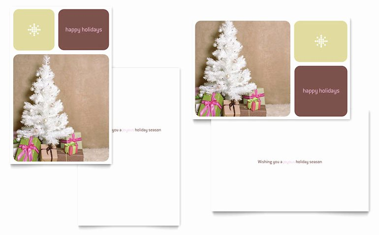 Contemporary Christmas Greeting Card Template Word
