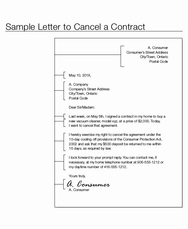 Contract Letter Template 9 Free Sample Example format