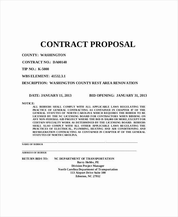 Contract Proposal Avail Effective Government Contract