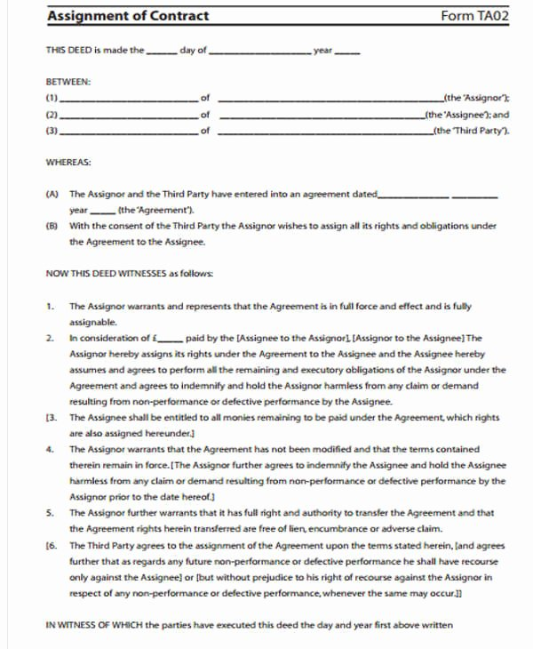 Contract Transfer Letter Template 5 Free Word Pdf