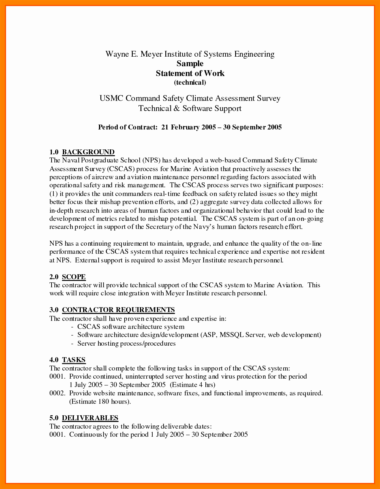 Contractor Qualification Statement Template
