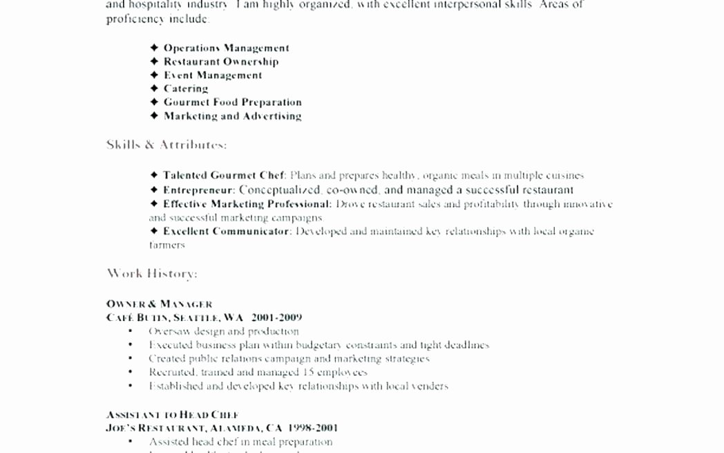 Cook Resume Description for A Dessert Chef Job Pastry