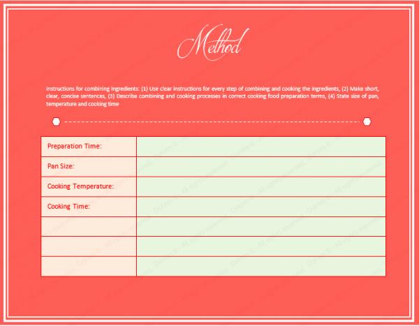 Cookbook Template Create A Cookbook for Microsoft Word