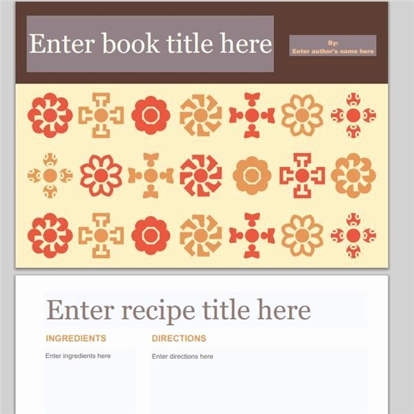 Cookbook Templates Word Excel Samples