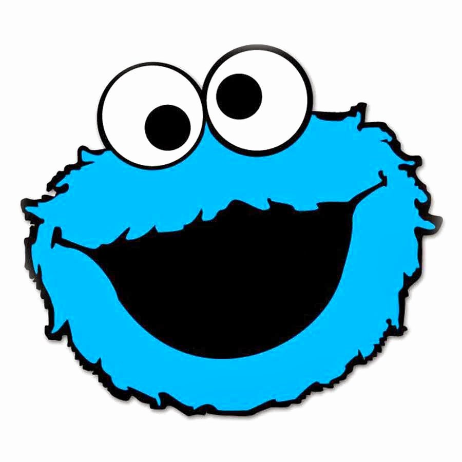 Cookie Monster Head Coloring Page
