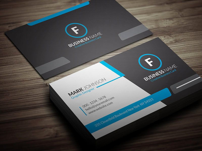 Cool Blue Corporate Business Card Template Free Download