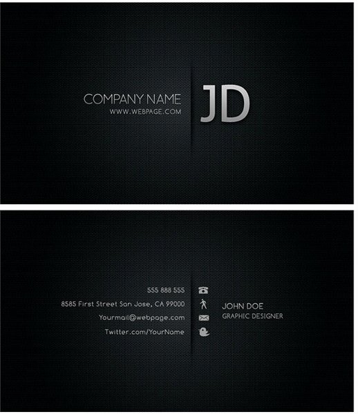Cool Business Card Templates Psd Layered Free Psd In