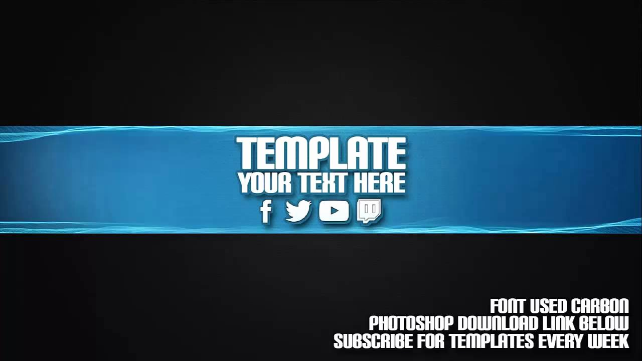 Cool Channel Art Template 19 Free Shop Download