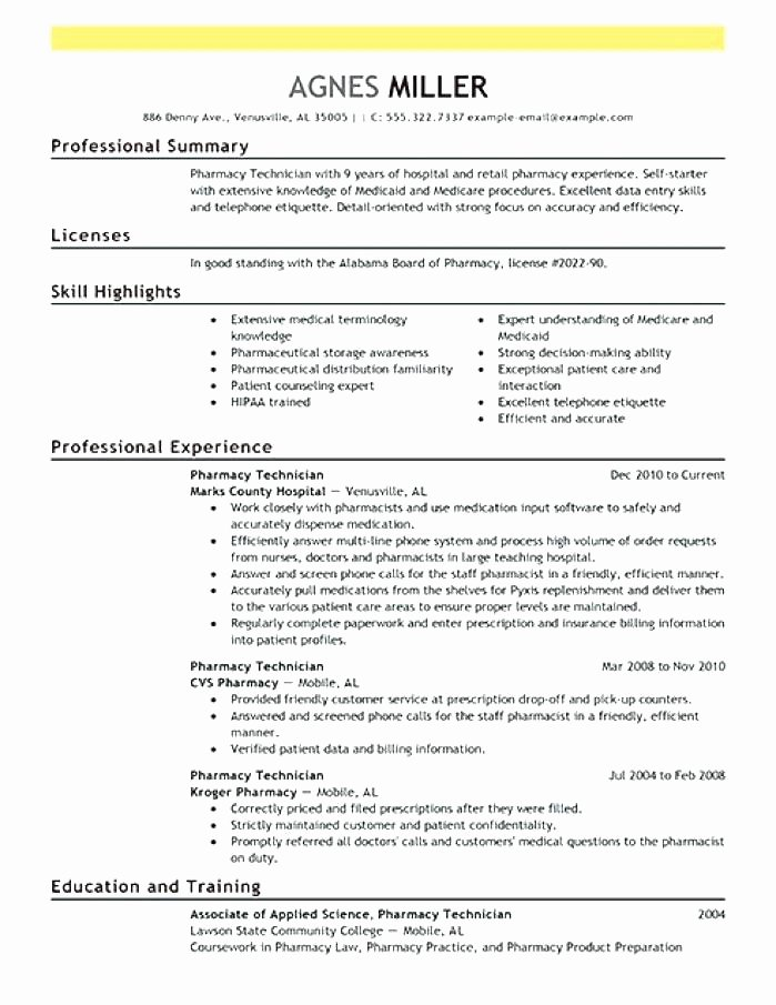 Cool Pharmacy Technician Cover Letter Example Craftsnews