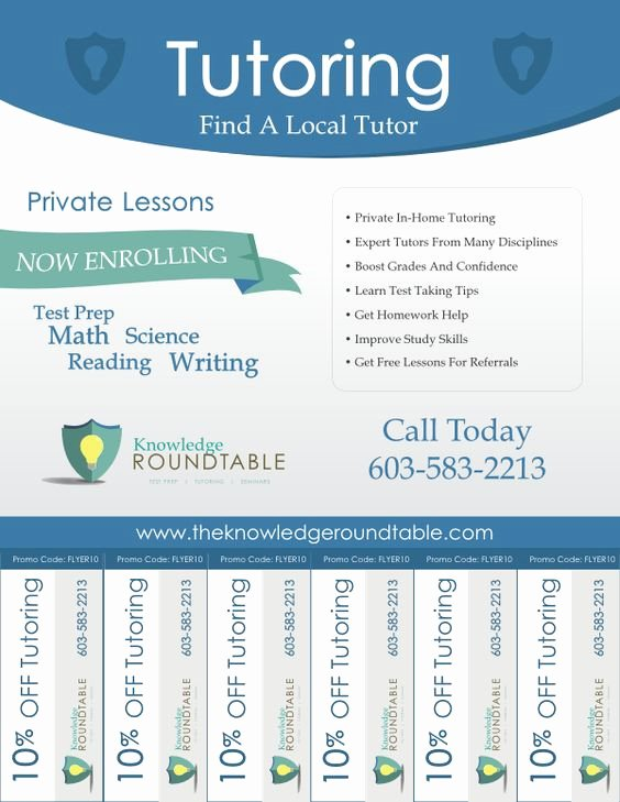 Cool Tutoring Flyers Education Pinterest