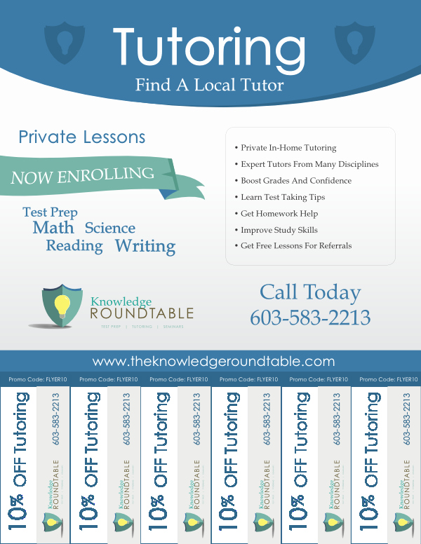 Cool Tutoring Flyers the Knowledge Roundtable